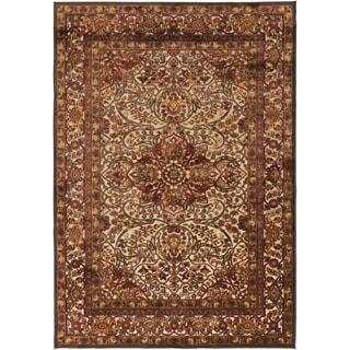 Bardo Traditional Brown Oriental Rug (5'2 x 7'6)