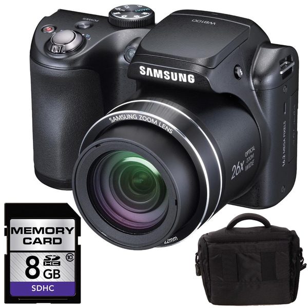 Samsung WB100 16MP Digital Camera with 8GB Bundle