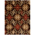 Abbott Ikat Dark Brown Rug (7'10 x 9'10)