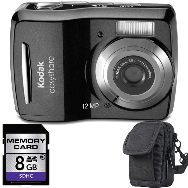 Kodak EasyShare C1505 12MP Digital Camera with 8GB Bundle