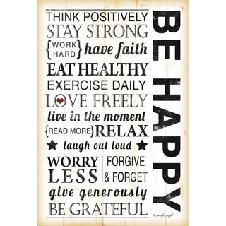 Jennifer Pugh 'Be Happy' Unframed Print Art