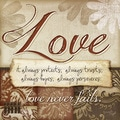 Jennifer Pugh 'Love Never Fails' Unframed Print Art