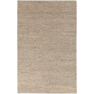 Hand-woven Duluth Casual Solid Beige Wool Rug (3'3 x 5'3)