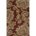 Hand-tufted Yumbo Red Wool Rug (3'3 x 5'3)