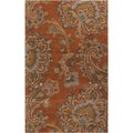 Hand-tufted Arauca Orange Wool Rug (8' x 11')