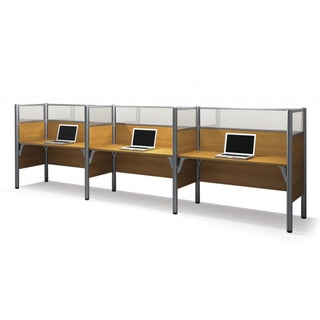 Bestar Pro-Biz 55.5-inch Side-by-Side Triple Workstation