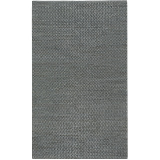Hand-woven Savage Green Natural Fiber Jute Braided Texture Rug (8' x 11')