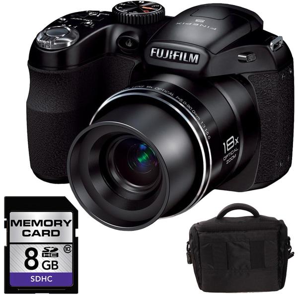 FujiFilm FinePix S2980 14MP Digital Camera with 8GB Bundle