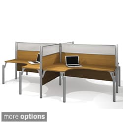 Bestar Pro-Biz Shock-Resistant Four-Person L-Desk Workstation
