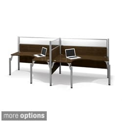 Bestar Pro-Biz Adjustable Double Side-by-Side L-Desk Workstation