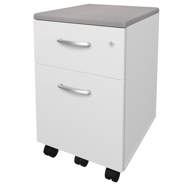 Bestar Pro-Biz Mobile 2-drawer Pedestal with Padded Top