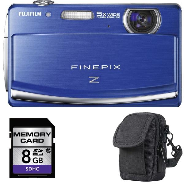 Fujifilm FinePix Z90 14.2MP Blue Digital Camera with 8GB Bundle