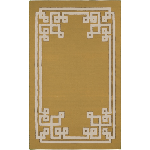 Beth Lacefield Hand-woven Addai Reversible Split Pea Wool Rug (2' x 3')