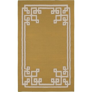 Beth Lacefield Hand-woven Addai Reversible Split Pea Wool Rug (8' x 11')