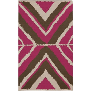 Beth Lacefield Hand-woven Adeipho Reversible Wool Rug (8' x 11')