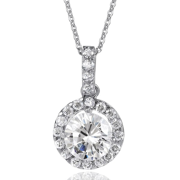 Journee Collection Sterling Silver Cubic Zirconia Round Necklace