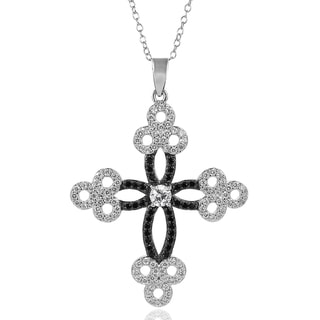 Tressa Collection Sterling Silver Cubic Zirconia Cross Necklace