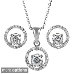 Tressa Collection Sterling Silver Cubic Zirconia Round Jewelry Set