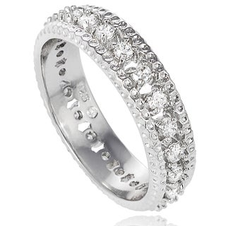 Tressa Collection Sterling Silver CZ Bridal-style Band (6 mm)