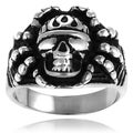 Vance Co. High-Polish Stainless-Steel Men's Skull Ring