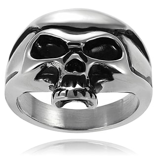 Vance Co. Stainless Steel Men's Skull Ring