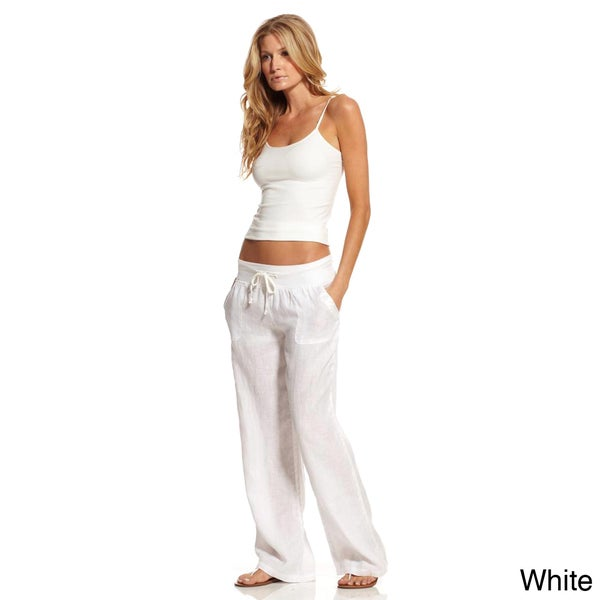 Popular Love Tree Women39s Linen Drawstring Pants  EBay