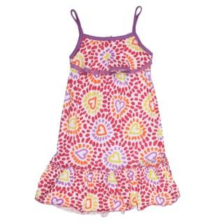XOXO Girl's Pink Heart Pattern Dress