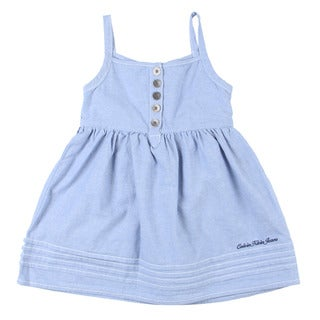 Calvin Klein Toddler Girl's Light Blue Dress with Matching Bottoms Set