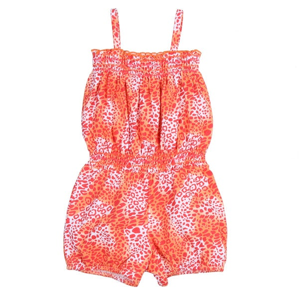Toddler Girl's Pink/ Orange Flower Romper