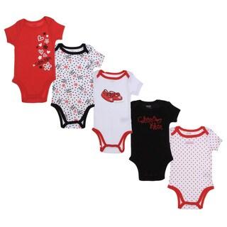 Calvin Klein Newborn Girls Printed Bodysuit Set Red/Black/White