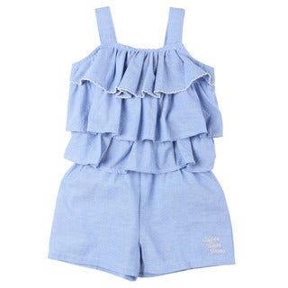 Calvin Klein Toddler Girl's Light Blue Ruffle Romper