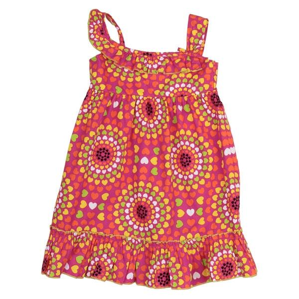 Lilybird Girl's Pink Floral Print Dress