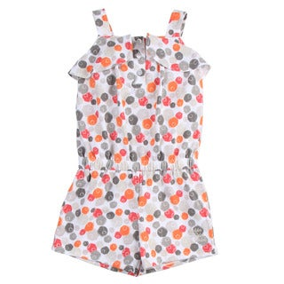 Calvin Klein Toddler Girl's Colorful Dot Printed Romper