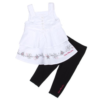 Calvin Klein Toddler Girl's Ruffle Top and Pant Set