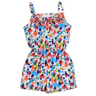 KHQ Girl's Multi Color Flower Romper