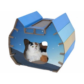 Go Pet Club House Shape Scratch Board Lounge