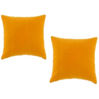 Buttercup Butterscotch 19-Inch Accent Throw Pillows (Set of 2)