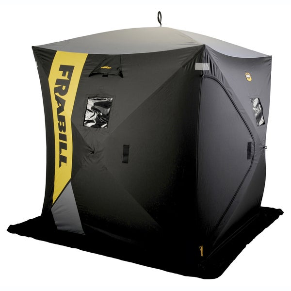 Frabill outpost three person hub shelter 15125092 for Ice fishing shelters clearance