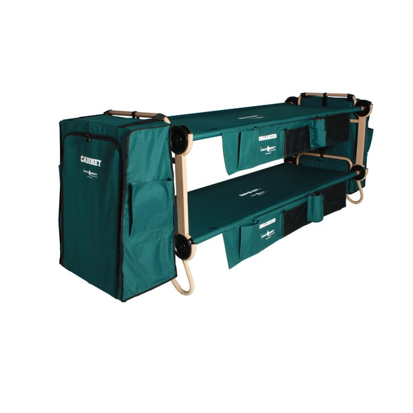 Disc-O-Bed Cam-O-Bunk Large Green Bunk Bed with Cabinets