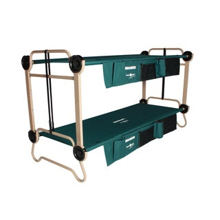 Disc-O-Bed Cam-O-Bunk Large Green Bunk Bed with Leg Extensions