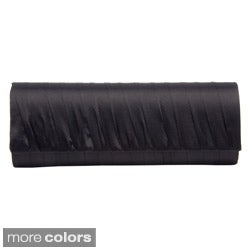 Women's Pleated Satin Clutch