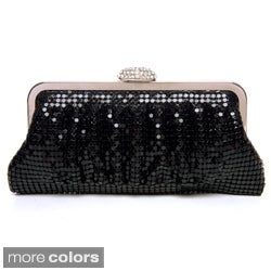 Women's Allover Metal Mesh Embellished Evening Clutch