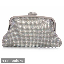 J. Furmani Women's 'Jenny' Crystal Mesh Clutch