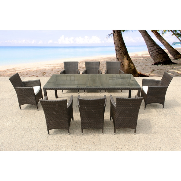 italy 220 wicker patio table and chairs outdoor dining set