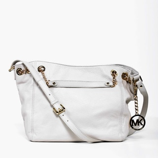 MICHAEL Michael Kors 'Jet Set' Vanilla Leather Chain Tote Bag