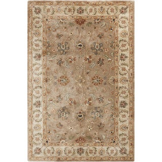 Hand-tufted Traditional Neihart Beige Oriental Rug (5' x 8')