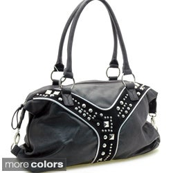 Dasein Women's Studded Accent Fashion Shoulder Bag