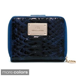 Anais Gvani Snakeskin Embossed Genuine Leather Zip-Around Wallet