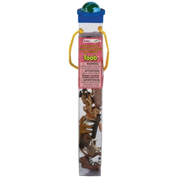 Safari Ltd Plastic Miniatures In Toobs: Monkey & Apes