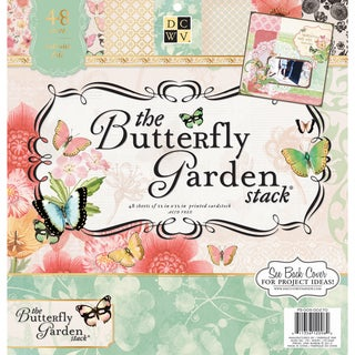"""Butterfly Garden Paper Stack 12""""X12"""" 48/Sheets-24 Designs/2ea"""